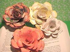 Tolle Rosen aus Papier schnell und einfach/Great roses of paper very easy - YouTube