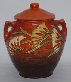 Roseville Pottery Freesia Cookie Jar (1940s)