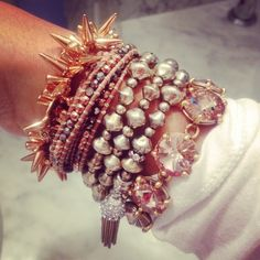We <3 this rose gold #SDarmparty!  Get yours at www.stelladot.com/gabbygrace