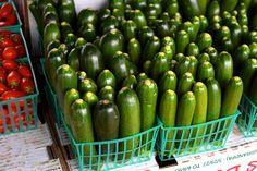 Cucumbers at Venice Beach Farmers Market | www.rachelphipps.com @rachelphipps