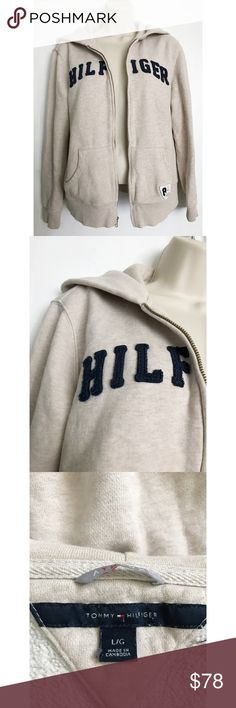 Tommy Hilfiger Zipper Jacket With Hoodie Size: Large. Condition: No defects. Please feel free to ask any questions in the comments! :-) Tommy Hilfiger Jackets & Coats