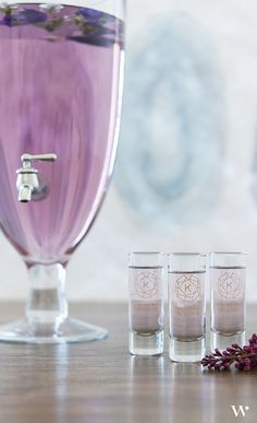 These personalized tall shot glasses make a festive impression at your reception. Choose your motif, color, and wording for unique wedding favors that really get the party started!