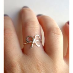 Rachel Pfeffer Jewelry Sterling Silver Bow Ring ($56) ❤ liked on Polyvore