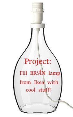 How to fill Ikea Bran lamp