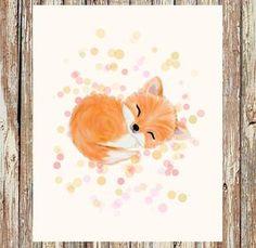 Fox nursery decor fox nursery woodland nursery von fluffibee