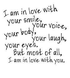 I am in love with you.