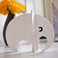 """Laser cut elephant from acrylic. Designed for DNDC as a part of """"Wild"""" home decor collection 2015."""