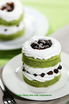 Idea for green tea cake