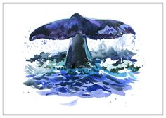 Whale Tail by nwpitneyink on Etsy