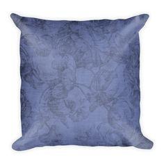 Blue Accents, Soft Pillows, Designer Throw Pillows, Classic Beauty, Pillow Cases, Dark Blue, Prints, Vintage, Deep Blue