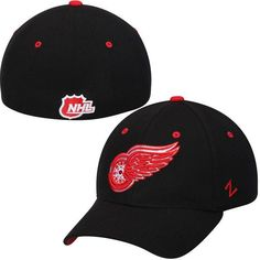 Detroit Red Wings Zephyr Breakaway Flex Hat - Black - $24.99