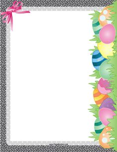 Free Easter border. Great for posters and signs. | paineis ...