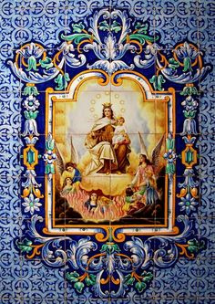 horizontal art depicting Our Blessed Virgin Mother - Bing images Catholic Art, Religious Art, Religious Photos, Blessed Mother Mary, Blessed Virgin Mary, Lady Of Mount Carmel, Queen Of Heaven, Mama Mary, Holy Mary