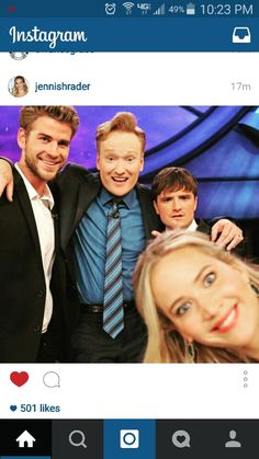 Photo bomb by JLAW straight from her instagram. Love Josh's face.