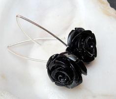 The sweet Rose dream, kolczyki koral i srebro - Maggia-Art - Kolczyki wiszące