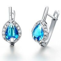 I think you'll like 18K White Gold  Plated Earring.  Art. ER-493 ( Blue Color ). Add it to your wishlist!  http://www.wish.com/c/5310f3aebb72c57a68c229f1