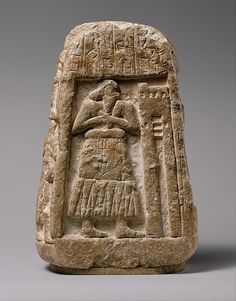 """ancientpeoples: """" Stele of Ushumgal Sumerian, probably from Umma (modern Jokha), H. 22.4 x W. 14.7 x D. 9.5 cm Early Dynastic I, 2900–2700 B.C. """" Among the earliest written documents from Mesopotamia..."""