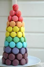 French Macaron Rainbow Tower!