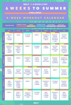 The 6 Weeks to Summer Workout Calendar | SELF.com