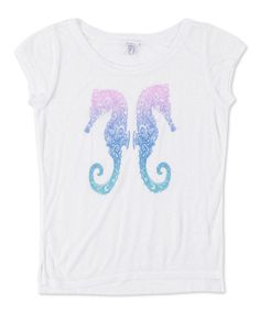 Take a look at this White Flounder Tee I bought at zulily today!