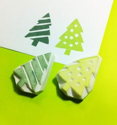 Christmas tree rubber Stamp -  theKeris