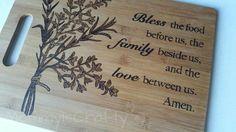 Wood Burned Bamboo Cutting Board/ Customize/ by MommyisCrafty, $35.00 #WoodworkingCuttingBoard