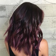 OMG This looks so nice!!!!!Plum/ purple Balayage @sunkissedbykate