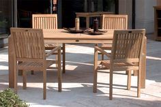 Indonesian Teak Wood Outdoor Furniture - TABLES ELITE - from eur 373.00 (tax included)