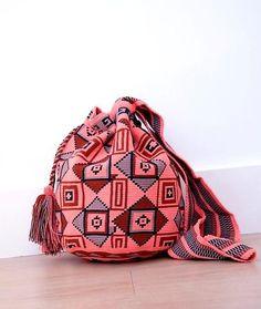wayuu mochilas bags brown earthy