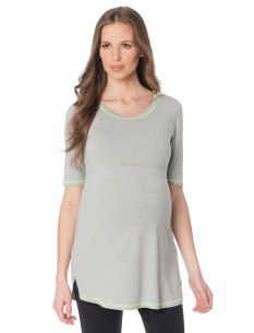 A Pea in the Pod Inner Elbow Sleeve Hooded Maternity Tunic