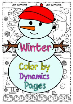 a43e0e39a4e4 Winter themed color sheets by dynamic set contains 5 designs in four  different formats  1