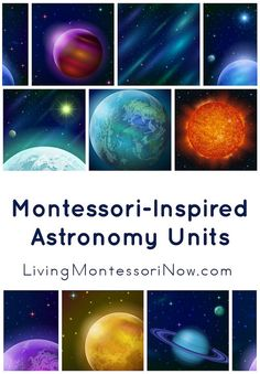 Montessori-inspired astronomy roundups with links to lots of astronomy activities and printables