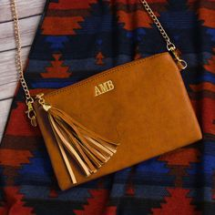 Monogrammed Downtown Tassel Purse from Marleylilly.com!