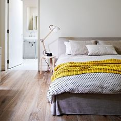 Neutral bedroom with lime-washed floor | Decorating with sun-bleached colours | Decorating | PHOTO GALLERY | Housetohome.co.uk