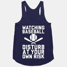 Watching Baseball #baseball #racerback #Tank #love #sports #funny #sassy #cute #style #game #play