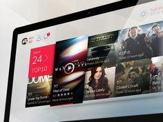 Movie UI designed by Rex Z. Connect with them on Dribbble; Web Design, App Ui Design, Mobile App Design, User Interface Design, Tablet Ui, Tv App, Ui Design Inspiration, Digital Tv, Web Layout