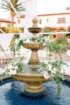 Hummingbird Nest Ranch fall wedding with neutral color palette of gray, white and greenery. Beautiful reception set up with greenery and fountain florals hummingbirdnestranch Purple Wedding, Floral Wedding, Wedding Flowers, Wedding Dinner, Fall Wedding, Wedding Bells, Hummingbird Nest Ranch, Church Wedding Decorations, Mini Roses
