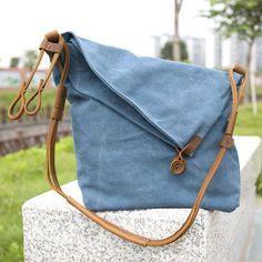 Women Canvas Leather Bag - Buykud
