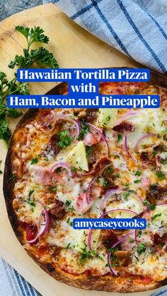 Grilled Pizza Recipes, White Pizza Recipes, Italian Recipes, Gourmet Pizza Recipes, Side Dish Recipes, Dinner Recipes, Tortilla Pizza, Easy Homemade Pizza, Cooking Recipes