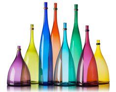 color bottles - vetro vero: true glass.