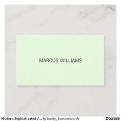 Modern Sophisticated / Mint Green Gray Business Card