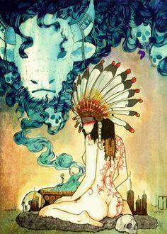 native american beautiful gif