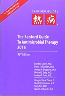 the sanford guide to antimicrobial therapy amazon