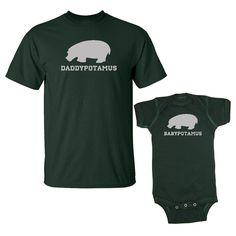 We Match!™ Daddypotomus & Babypotomus T-Shirt & Baby Bodysuit Set