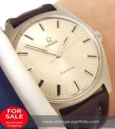 Perfect Vintage Omega Geneve Steel Onyx Indices  #omega #omegawatches #omegavintage #vintageos