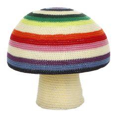 Discover the Anne-Claire Petit Mix Stripe Mushroom Crochet Pouf - 40 x 34cm at Amara