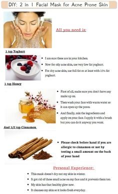 DIY-2 in 1 Facial Mask for Acne Prone Skin - Free Skin Care Tips at http://freenaturalskincaretips.info/