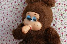 Collectible Thumb Sucking Doll Soft Toy by VintageToysForAll on Etsy Doll Toys, Dolls, Star Cards, Little Twin Stars, 1970s, Hello Kitty, Vintage Items, Bear, Cute