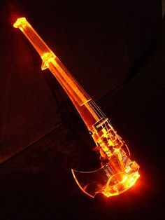 Found this unusually lite electric violin.  It's Equester.  Looks really cool.