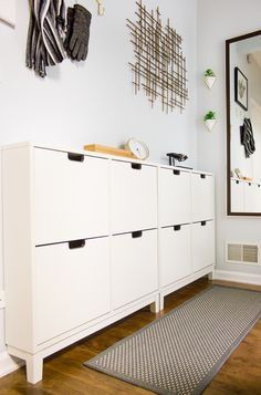 Shoe cabinet. Small space